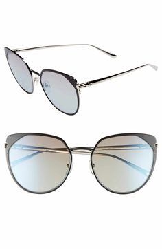 Main Image - Longchamp 58mm Rounded Cat Eye Sunglasses