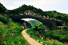 Naturally formed bridges in #Guangxi