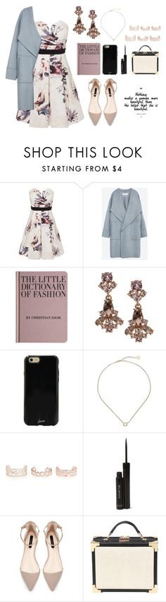 """Little Mistress"" by forevermiya ❤ liked on Polyvore featuring Little Mistress, Zara, Hachette Book Group, Givenchy, Sonix, Kendra Scott, New Look, shu uemura and Aspinal of London"