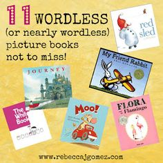 Rebecca J. Gomez: Wonderful Wordless (or Nearly Wordless) Picture Books are accessible for every reader!