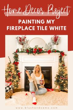 Do you have a fireplace that you've been wanting to paint? What's the hold up? I was afraid that I'd pick the wrong color and make it worse! You too! Well then, you're going to love this post! I have all the tools, steps and tips for you to paint your fireplace and love it as much as I do! The before and after pictures are amazing! #homedecorproject #fireplaceredo #fireplacemakeover #fireplaceupdate