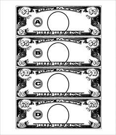 Duplicate Money Template Free Play Printable Worksheets