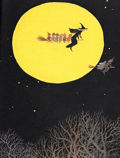 "Graphic from ""The Halloween Party"" (1974), illustration by Adrienne Adams"