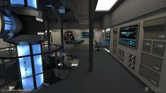 It's for his Excelsior class Enterprise-B, upgraded a few years after the events of ST:VII - Generations. Enterprise-B Refit - Engineering (Render Star Trek Rpg, Star Trek Ships, Spaceship Interior, Futuristic Interior, Star Trek Enterprise, Star Trek Voyager, Excelsior Class, Star Trek Bridge, Firefly Serenity