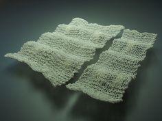 'ripples' feldspathic glaze knitting