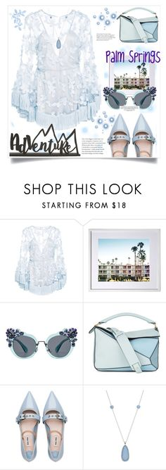 """Palm Springs- Travel Outfit"" by jessicad110916 ❤ liked on Polyvore featuring Alice McCall, Miu Miu, Loewe, LC Lauren Conrad, california, palmsprings, traveloutfits and funonvaca"