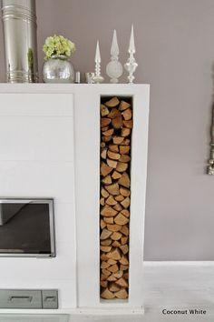Coconut White: Olohuoneen valkoinen takka syystunnelmissa Decor, House, Interior, Interior Inspiration, New Homes, Home Decor, Inspiration, Decorating Your Home, Coconut Decoration