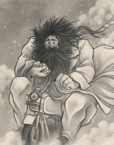 Hagrid by Cory Godbey - Harry Potter Fanart Harry Potter, Harry Potter Show, Magia Harry Potter, Harry Potter Drawings, Harry Potter Universal, Harry Potter World, Harry Potter Ilustraciones, Rubeus Hagrid, Illustrations