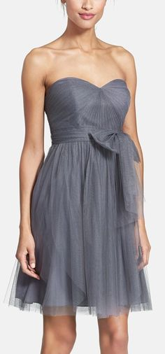 Gorgeous sweetheart style tulle dress in 'Gunmetal'