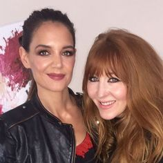 Getting the fabulous Katie Holmes ready for New York Fashion week. She's wearing my Luxury Palette in Dolce Vita, Film Star Bronze & Glow and Matte Revolution Lipstick in the shade Bond Girl