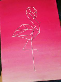Geometric flamingo --could recreate with washi tape!
