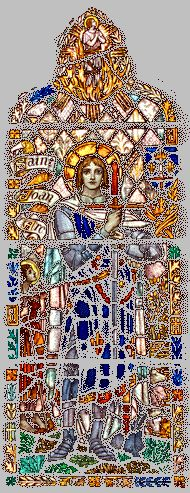 Joan of Arc Stained Glass