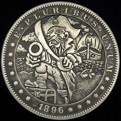 The Engraver's Cafe - The World's Largest Hand Engraving Community - First Morgan dollar Pirate Garb, Hobo Nickel, Coin Art, Black Sails, Old Money, Old Coins, Creative Illustration, Coin Collecting, Hand Engraving
