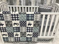 Baby Boy  Nursery Set , Baby/Toddler Blanket , Farm  , Chickens , Tractor , Cow , Baby Bedding , Crib Bedding