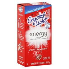 Crystal Light Energy On The Go Wild Strawberry Drink Mix 10 ct