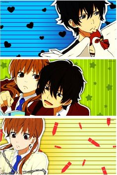 Tonari No Kaibutsu-kun / shizuku and haru I Love Anime, All Anime, Me Me Me Anime, Manga Anime, Anime Art, Shizuku And Haru, Shizuku Mizutani, My Little Monster, Little Monsters