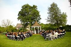 Kat and Mark Wedding Woodland Manor Maryland - Dempsey Photography - Montgomery  Park Venue - Outdoor Ceremony