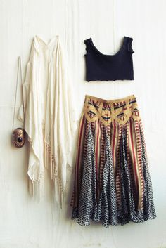 Long gypsy style modern hippie fringe kimono with boho chic crochet embellished shorts. Description from pinterest.com. I searched for this on bing.com/images