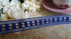 Fita Decorativa Florzinha azul royal
