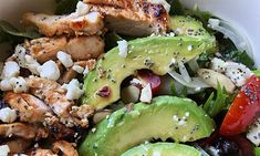 Grilled Chicken Salad with Avocado - Body Fuel