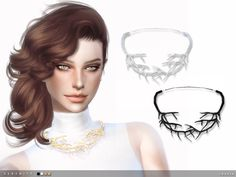The Sims Resource: Serenity Necklace by toksik • Sims 4 Downloads