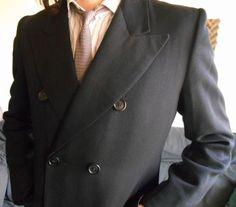 Manteau-Redingote-Opera-Coat-parisien-homme-vintage-annees-70-taille-M