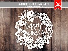 papercut template happy mothers day, mothers day svg, mom svg, svg files for cricut svg files for silhouette, svg, svg designs, gift for mom by PersonalEpiphany on Etsy