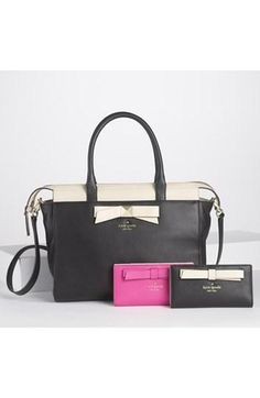 kate spade new york leather satchel.