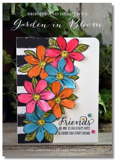 Designed by Connie Collins using Garden In Bloom stamp set by Stampin' Up!