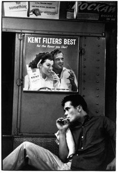 Teenager on the New York subway, 1950s