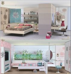 Emma's Simposium: Request 000022 - Petala Single Bedroom & Master Bedroom by SIMcredible - Donated/Gifted To Us - Requested!!!
