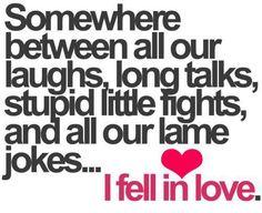 笑ったり、しゃべったり、ケンカしたり、冗談いったり… いつの間にか君を好きになっていた。