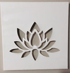 Lotus Flower Stencil lotus flower on dark skin Stencils, Leaf Stencil, Stencil Templates, Stencil Patterns, Stencil Painting, Stencil Designs, Paint Designs, Fabric Painting, Lotus Flower Art