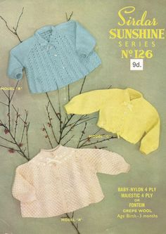 Instant Download - PDF- Beautiful Matinees Coats and Cardigan Knitting Pattern (68) by CharliegirlCrafts4U on Etsy