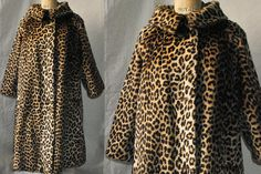 Etsy listing: Faux LEOPARD Print A-Line SWING Coat, Wedding Ring Collar, 1960s This coat is simply fabulous.  End of story.