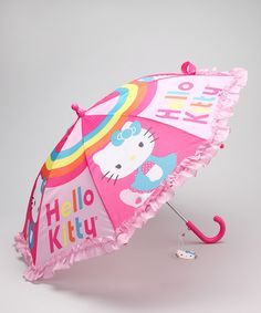Pink Hello Kitty Umbrella from AccessoWear Rainwear on #zulily