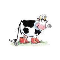 Penny Black Rubber Stamps Stamp MS FASTIDIOUS Cow With Rainboots