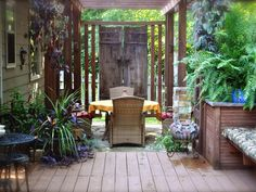 Build a private haven in your outdoor space with plants, fences, canopies or even artwork.