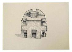 Nathalie Du Pasquier - Monumentos Nacionales - 2009 - Se trata de pequeños monumentos nacionales creados por el montaje de partes de objetos cotidianos y elementos escultóricos. Los dibujos lineales están hechas con bolígrafo o lápiz y enriquecidos con texturas simples; que recuerdan los encuentros casuales de objetos sobre una superficie.