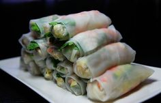 Baked spring rolls and other yummy recipes