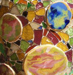 Gaudi mosaic work http://bespokebybrouhaha.files.wordpress.com/2008/05/gaudi1.jpg