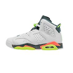 932fd5ed422e Nike Jordan Retro 6 VI Ps Little Kids 384666-114 Green Mango Shoes Youth Sz  12.5