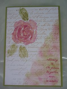My absolute all-time favourite stamp set - Roses in Winter by Stampin' Up!