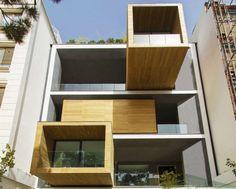 Sharifi House Tehran, nextoffice architecture, Tehran architecture, mobile home, mobile rooms, transformable homes, facade design, adaptable house, dynamic facades, space-saving house, space efficient house