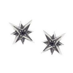 Lumina Earrings #starsearrings #stars #starsbuttonearrings #halfhoopset #earrings #buttonearrings #silver #jewels #jewelry #viviangioielli