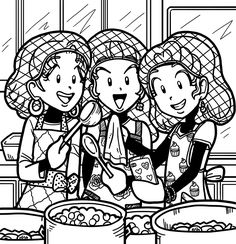 This is Nikki, Chloe, and Zoey working in the cafeteria. They get in trouble so they have to work in the cafeteria for a day. Although they have a blast doing it together and want to do it again. They serve food while they are taking selfies.