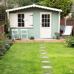 Summer house ideas – Garden shed – Summer house for garden Summer House Garden, Home And Garden, Summer Houses, Summer House Paint, Painted Shed, Garden Cabins, Garden Sheds, Craft Shed, Wendy House