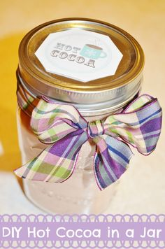 DIY Rich Chocolate Hot Cocoa in a Jar Gift