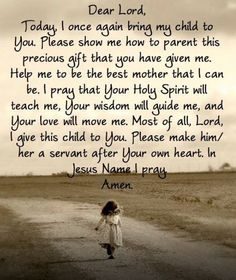 How to pray for your child - even when they have grown and have a home of their…