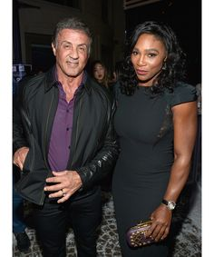 Brand ambassadors Freida Pinto and Serena Williams helped celebrate the opening of the luxury watchmaker's new Beverly Hills boutique. Pictured here: Sylvester Stallone, Serena Williams.